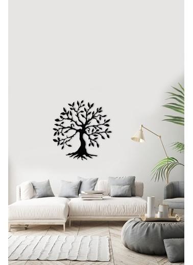 Angemiel Ağaç Bereket Metal Duvar Tablosu Siyah